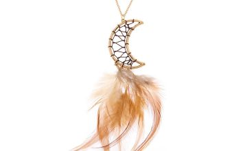 Go to Product: Gold Moon Dreamcatcher Long Pendant Necklace