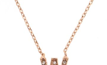 Go to Product: Rose Gold Studded W Initial Necklace