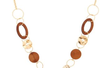 Go to Product: Gold Wooden Link Statement Necklace