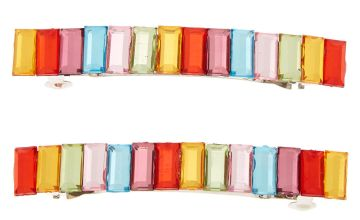 Go to Product: Rainbow Clear Stone Barrettes - 2 Pack