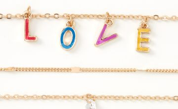 Go to Product: Gold Rainbow Love Chain Bracelets - 5 Pack