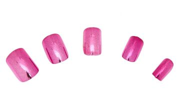 Go to Product: Metallic Square Faux Nail Set - Pink, 24 Pack