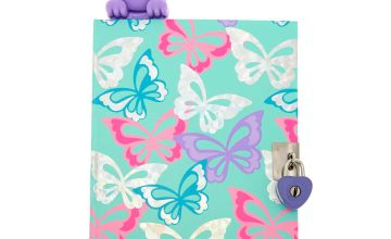 Go to Product: Bella The Bunny Popover Bookmark Lock Notebook - Purple