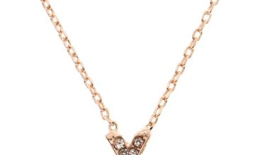 Go to Product: Rose Gold Studded X Initial Necklace