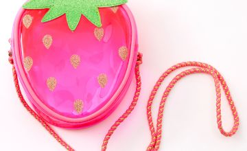 Go to Product: Claire's Club Transparent Strawberry Crossbody Bag - Pink