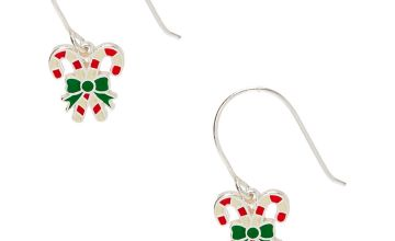 "Go to Product: Sterling Silver 0.5"" Candy Cane Drop Earrings"