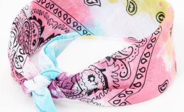 Go to Product: Claire's Club Rainbow Tie Dye Paisley Bandana Headwrap