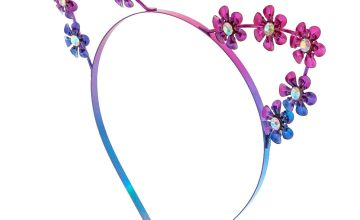 Go to Product: Anodized Metal Flower Cat Ears Headband