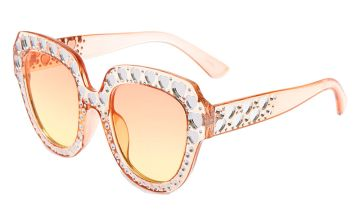 Go to Product: Oversized Embellished Heart Sunglasses - Pink