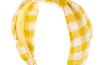 Go to Product: Gingham Knotted Headband - Yellow