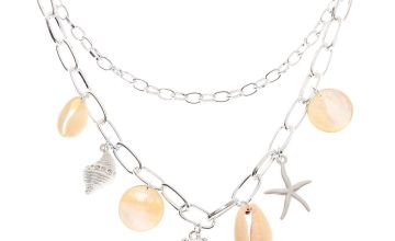 Go to Product: Silver Seashell Chain Statement Necklace