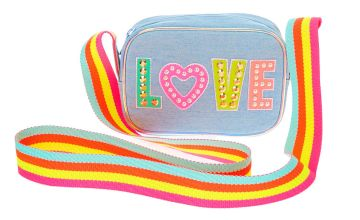 Go to Product: Rainbow Love Denim Crossbody Bag