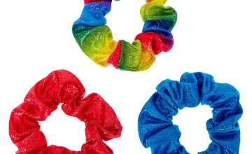 Go to Product: Small Rainbow Holographic Hair Scrunchies - 3 Pack