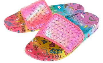 Go to Product: Sequin Doodle Slide Sandals - Pink