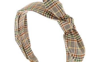 Go to Product: Classic Plaid Knotted Bow Headband - Brown
