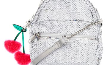 Go to Product: Reversible Sequin Mini Backpack Crossbody Bag - White