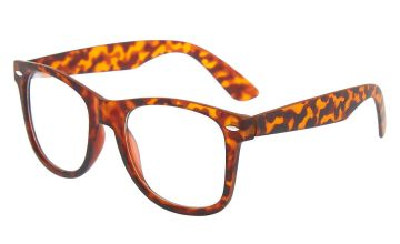 Go to Product: Tortoiseshell Retro Clear Lens Frames - Brown