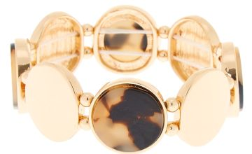 Go to Product: Gold Tortoiseshell Stretch Bracelet - Brown