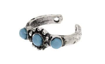 Go to Product: Silver Stone Ear Cuff - Turquoise