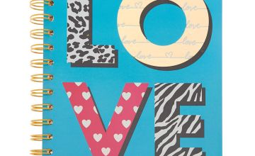 Go to Product: Love Print Mini Notebook - Teal