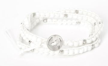 Go to Product: Beaded Wrap Bracelet - White