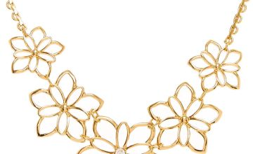 Go to Product: Gold Flower Statement necklace