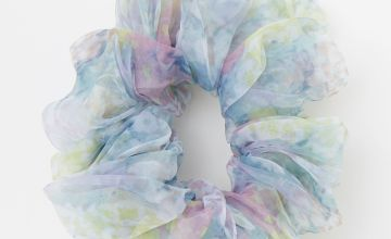 Go to Product: Giant Sheer Floral Hair Scrunchie - Blue