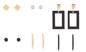 Go to Product: Gold Mixed Earrings - 6 Pack