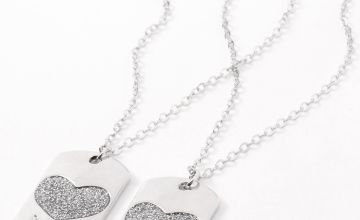 Go to Product: Best Friends Heart Dog Tag Pendant Necklaces - 2 Pack