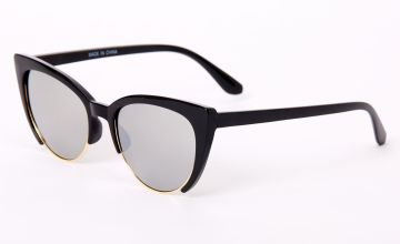 Go to Product: Browline Cat Eye Sunglasses - Black