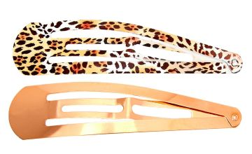 Go to Product: Metallic Leopard Jumbo Snap Hair Clips - Rose Gold, 2 Pack