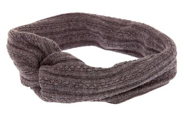 Go to Product: Sweater Twisted Headwrap - Grey