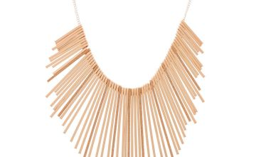 Go to Product: Rose Gold Glitter Bar Bib Statement Necklace