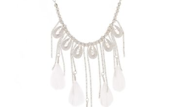 Go to Product: Silver Feather Statement Necklace