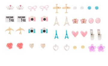 Go to Product: Parisian Jet Setter Stud Earrings - 20 Pack