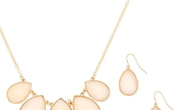 Go to Product: Gold Shell Teardrop Jewellery Set - White, 2 Pack