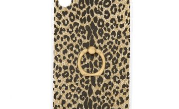 Go to Product: Gold Glitter Leopard with Ring Holder Phone Case - Fits iPhone XS Max