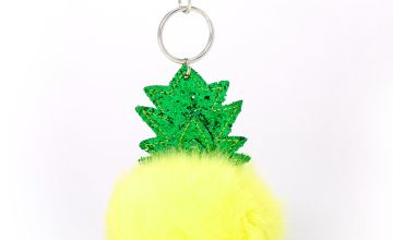 Go to Product: Plush Pom Pineapple Keychain - Yellow