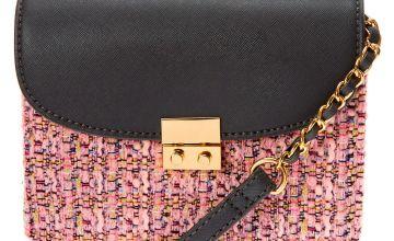 Go to Product: Tweed Crossbody Bag - Pink