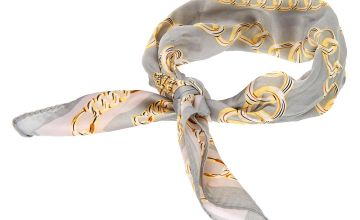 Go to Product: Chain Print Bandana Headwrap - Grey
