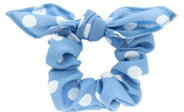 Go to Product: Small Polka Dot Knotted Bow Hair Scrunchie - Blue