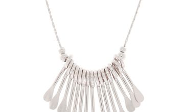 Go to Product: Silver Mini Bar Statement Necklace