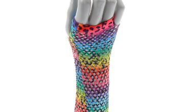 Go to Product: Rainbow Leopard Print Fishnet Arm Warmers