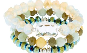 Go to Product: Beaded Stretch Bracelets - Green, 3 Pack