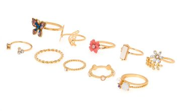 Go to Product: Gold Floral Ring Set - 10 Pack