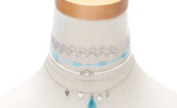 Go to Product: Silver Festival Choker Necklaces - Turquoise, 5 Pack