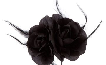 Go to Product: Large Rose Flower Hair Clip - Black