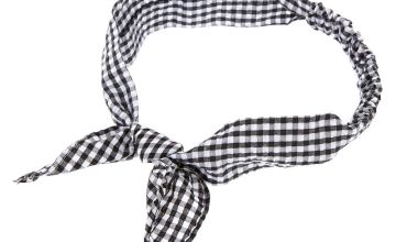 Go to Product: Gingham Knotted Bow Headwrap - Black