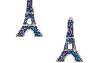 Go to Product: Glitter Eiffel Tower Stud Earrings