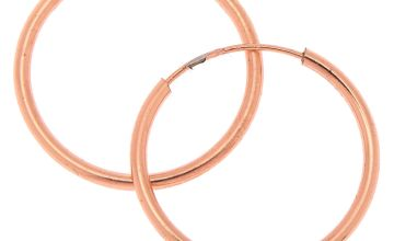 Go to Product: 18kt Rose Gold 15MM Infinity Hoop Earrings